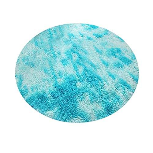 Read About Theoylos Plush Sheepskin Round Throw Rug Faux Fur Elegant Cozy Round Rug Floor Mat Area R...