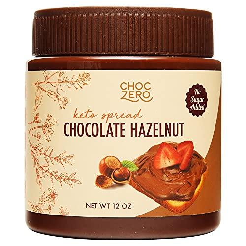 ChocZero Keto Milk Chocolate Hazelnut Spread - Keto Friendly, No Sugar Added, Best Low Carb Dessert,...
