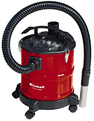 Einhell TC-AV 1250 1250W 20L Negro, Rojo - Aspiradoras de cenizas (20 L, Sin bolsa, Negro, Rojo, 1,2 m, Metal, 3,6 cm)