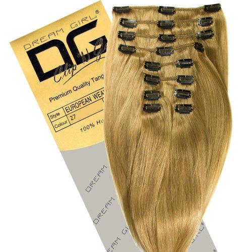 Dream Girl Extensions de cheveux à clipser Couleur 27 35,6 cm