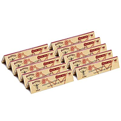 HORNET King Size Classic Rolling Papers,10 Pack...