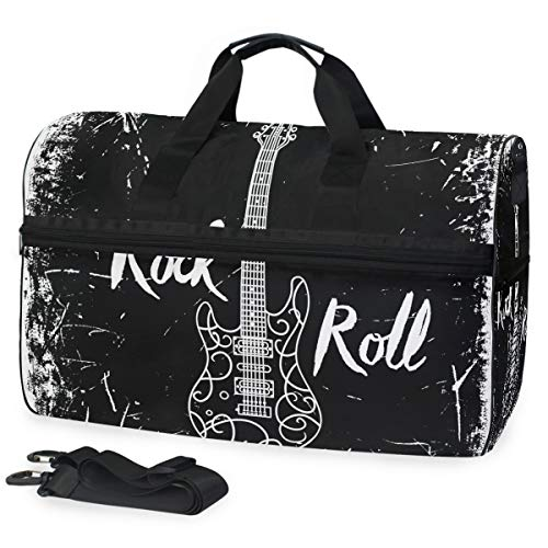 FAJRO Reisetasche für Damen und Herren, für E-Gitarre, Rock and Roll Reisetasche, groß, wasserfest, reißfest