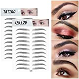 Ownest 2 Pcs 3D Hair-Like Authentic Eyebrows, Waterproof Imitation Ecological Natural Tattoo Eyebrow Stickers,...
