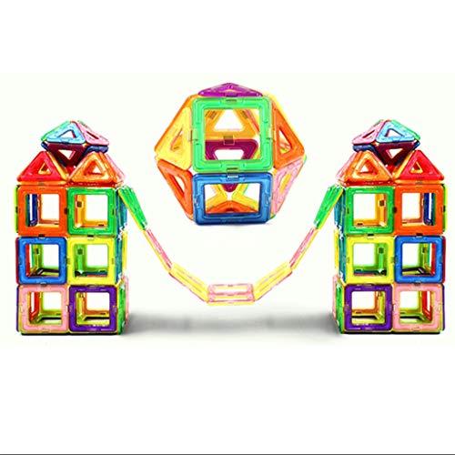kids toys Blocs de Construction magnétiques, kit d'empilage de Construction de Jouets magnétiques, Jouets éducatifs pour Enfants de 3-6-8 Ans, assemblés de manière lâche, avec Manuel d'instructions