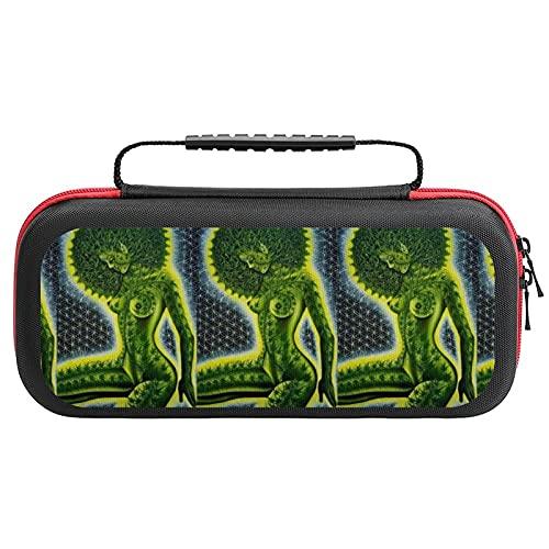 African Women Green Marijuana Weed Leaf Nintendo Switch用 スイッチ ハード ポーチ アクセサリー 収納バッグ ニンテンドースイッチ ケース 任天堂スイッチ用のキャリングケース 大容量 防塵 耐衝撃 全面保護