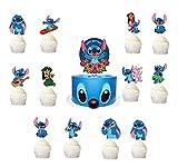 21pcs Blue Cartoon Pet Cupcake Toppers for Lilo &...
