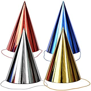 Professional 4pcs Set of Birthday Large Hats Children Party Triangle Paper Hat Atmosphere, Decorations for Hats - Top Hat Party Favors, Pirate Kids Hats, Funny Hats Kids, Adult Costume, Bear Party