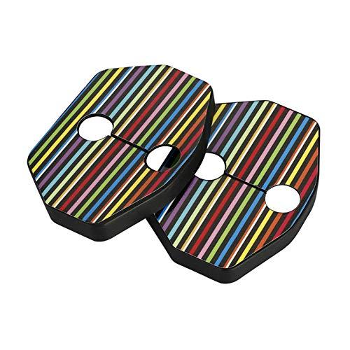 HYCQ Tapa Cerradura Puerta 1 Par Protector Caja Cubierta Cerradura Puerta Estilo Coche para M-ini para C-ooper para O-ne para J-CW R55 R56 R57 R58 R59 Roadster Accesorios Coche (Color : Rainbow)