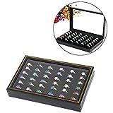 JZTRADING Organizador Anillos Cajas para Joyas Caja de Pendientes para Almacenamiento Joyero para Pendientes Bandeja de joyería Organizador de Almacenamiento