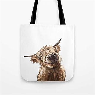 Highland Cow Tote Bag/Highland Cow Bag/Cow Tote Bag/Animal Bag