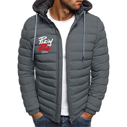 KaloryWee Leichte Daunenjacke für Herren Einfarbig mit Kapuze Hoodie Jacke Packable Light Cardigan Jacke