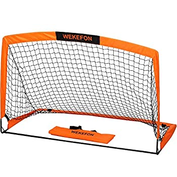 WEKEFON Soccer Goal 5  x 3.1  Portable Soccer Net for Backyard Games and Training Goals for Kids and Youth Soccer Practice with Carry Bag 1 Pack