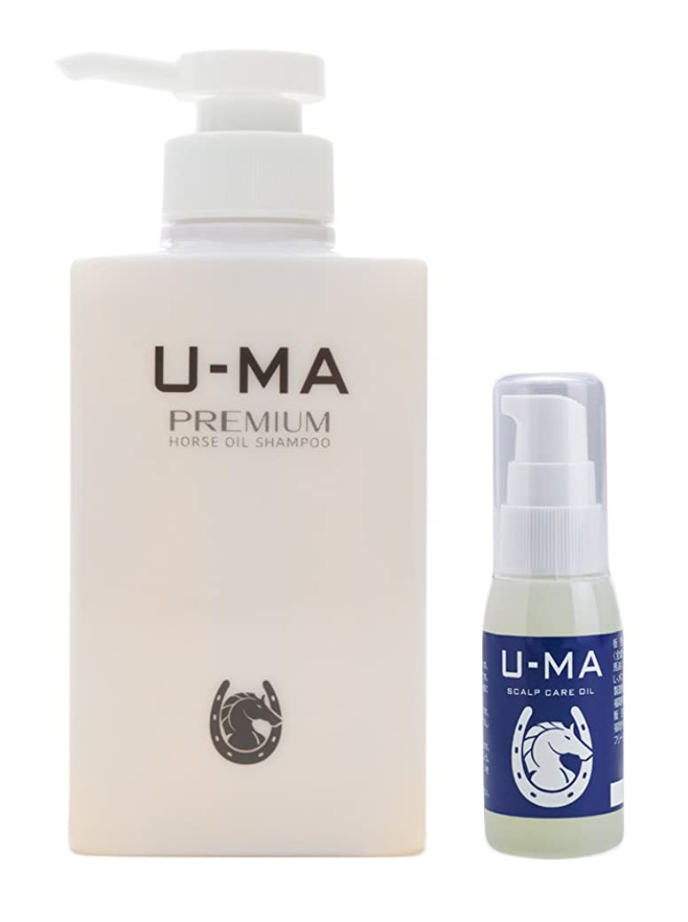 崇拝します広範囲に開始U-MA (ウーマ) スキャルプケアオイル 30ml & ウーマシャンプープレミアム 300ml セット