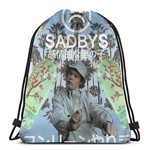 Hdadwy Sadboy Sport Bag Gym Sack Mochila con cordón para Compras de Gimnasio