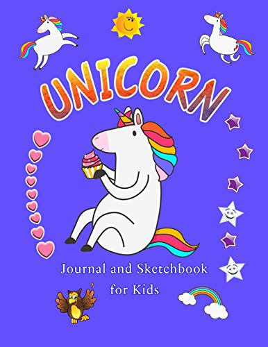 Unicorn Journal and Sketchbook for Kids: With many MORE UNICORNS INSIDE | Cute Christmas Stocking St