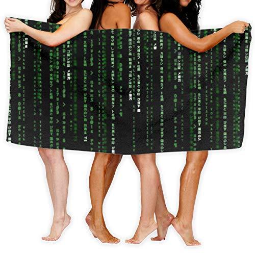 N/A THE MATRIX Action Adventure Sci-fi Binary Quick Dry Handdoek Katoen Super Zachte handdoek Bestand badhanddoek 80cmx130cm