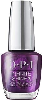 OPI Infinite Shine Nail Polish Let's Take an Elfie, Purple Red, 15 ml