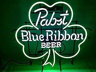 Brand New Pabst Blue Ribbon Shamrock Neon Sign Beer Bar Pub Light Sign 19x15!!!Best Offer!