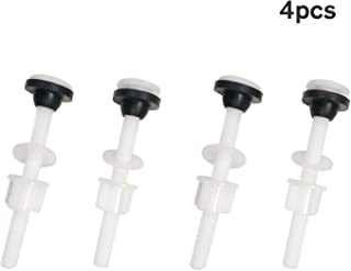 Toilet Tank Plastic Bolts, 4 PACK M10 Tank to Bowl Bathroom Toilet Repair Kits Fitting Screws and Seal Set, Pan Head Bolts Fits Two Piece Toilet(White)