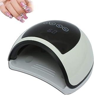 Lámpara de uñas LED UV de gel de 96W, kit de uñas de acrílico para secador de luz de uñas, kit de uñas de acrílico profesional Secadoras de uñas para gel y esmalte regular, Bandeja desmontable