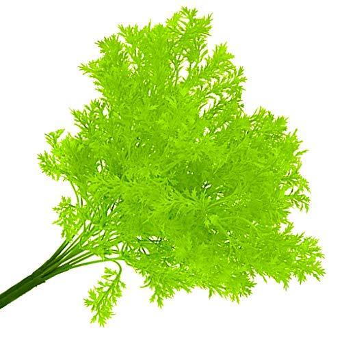 Rekkles Künstliche Plastikblumen-Blätter Zweig Naturgetreue Petersilie Blumenhauptdekoration Foto Props - 3