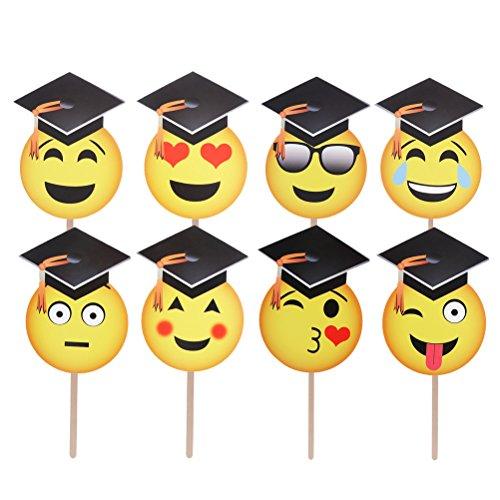 BESTOYARD Photo Booth de Graduación Gorra de Doctor Multicolor para Tomar Foto...