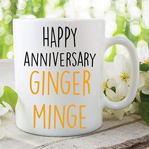 N\A Taza de café Taza de té Feliz Aniversario Ginger Minge Divertido Novedad Marido Esposa Novia Novio Mejor Amigo Broma Broma Presente