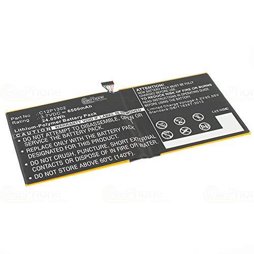 cellePhone Akku Li-Polymer kompatibel mit Asus MeMo Pad 10 ME302KL (Ersatz für C12P1302)