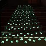 RAIN QUEEN 階段マット 蛍光 階段マット 滑りズレ防止 折り曲げ付 防音 滑り止め 洗える 折り曲げ付階段マット ベージュ 階段クッション