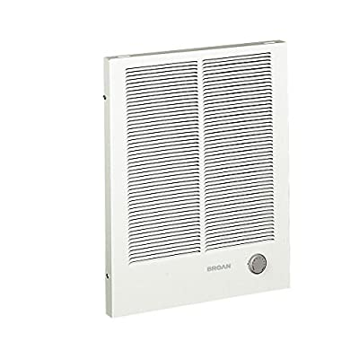 Broan-NuTone 198 High Capacity Wall Heater, White Painted Grille,