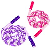 Zocy Soft Bead Jump Rope,Adjustable Fitness Skipping Rope for Men, Women and Kids Keeping Fit,...