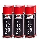 6 Dosen VIKON Glas-Schaum-Reiniger Spray 400 ml