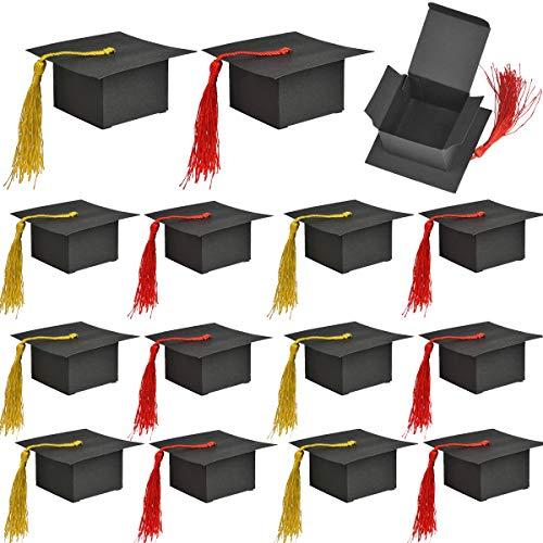 Dancepandas Caja Dulce Disfrace Graduación 50PCS Cajas de Graduación Gorro Caja de Favores Caja de Regalo En Forma de Tapa de Graduación para Favor de Fiesta de Graduación
