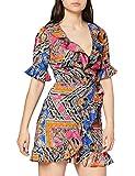 Marca Amazon - find. Vestido de Flores con Volantes Mujer, Multicolor (multicolor)., 40, Label: M