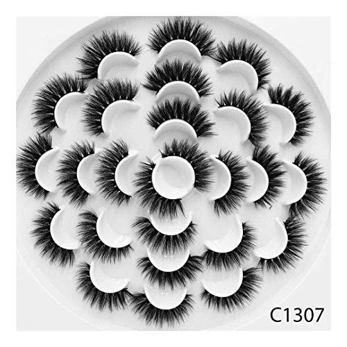 13 paires Faux 3D Vison Cils Naturel Long Faux Cils Volume Faux Cils Maquillage Extension Cils Maquiagem (Color : 3)