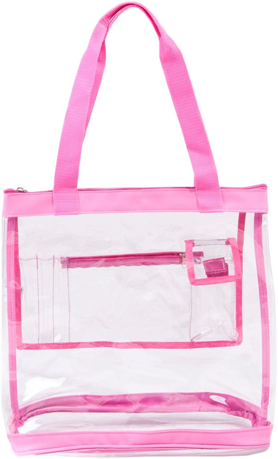 Clear Tote Bag with Zipper Top Closure and Pockets for Women Heavy Duty for Work