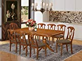 9 Pc Dining room set-rectangular Table with Leaf and 8 Kitchen Dining Chairs