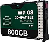 800GB SAS 12Gb/s 2.5' 15mm SSD for HP ProLiant Servers | Enterprise Solid State Drive in HPE G8 G9 G10 Carrier Tray