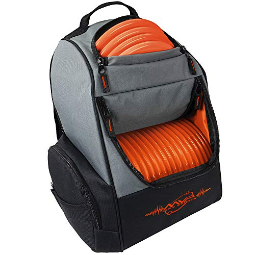 MVP Disc Sports Backpack Shuttle Bag (Gray/Orange)