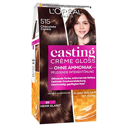 L'Oréal Paris A2797704 Casting Creme Gloss Pflege-Haarfarbe, 515 in Chocolate Cookie, 1er Pack