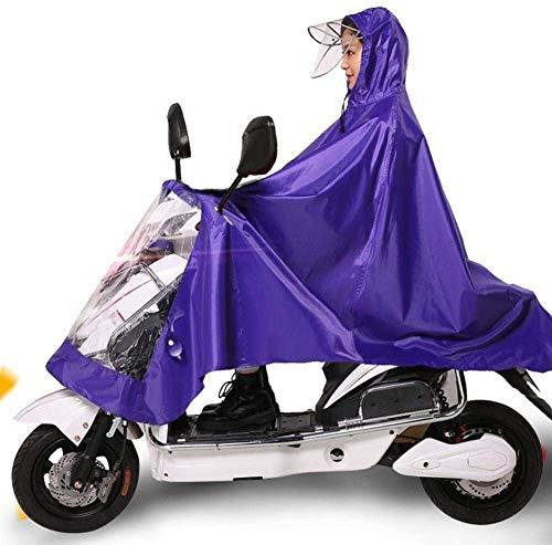 Regenjas Waterdicht Regenjas Poncho Motorfiets Regenjas 4XL Eenpersoons Elektrische Waterdichte Poncho Fiets Riding Rain Gear Fiets Riding Regenkleding (Kleur : Paars 4XL single)