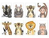 Bilder Kinderzimmer wilde Tiere, Dschungel Deko, Wandbilder