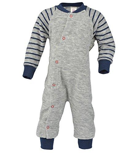 Engel Natur, Baby und Kinder Schlafanzug Frottee, 100% Wolle (86/92, Hellgrau Melange)