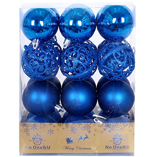 """Christmas Balls Ornaments for Xmas Christmas Tree,2.4""""24PC Shatterproof Christmas Tree Decorations Hanging Ball Set for Holiday Wedding Party Decoration"""