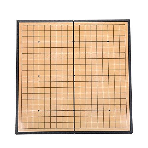 SolUptanisu houten schaakspel set magnetisch schaakspel vouwbord Chinese bordspel Weiqi leerspel geweldig cadeau voor kinderen en volwassenen