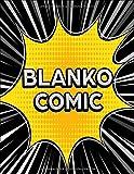 BLANKO COMIC: Comic Heft mit vielfältigen Vorlagen für verschiedene Comic-Stile: Über 150 Seiten zum Zeichnen des eigenen Comics | Comicbuch Motiv: Manga Speed Lines black