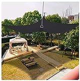 Toldo rectangular de 8 x 10 pies, 95% bloque UV, 185 g/m², resistente, resistente al sol, para camping, senderismo, patio, vela, actividades al aire libre, color azul (tamaño: 2,5 x 3 m, color negro)