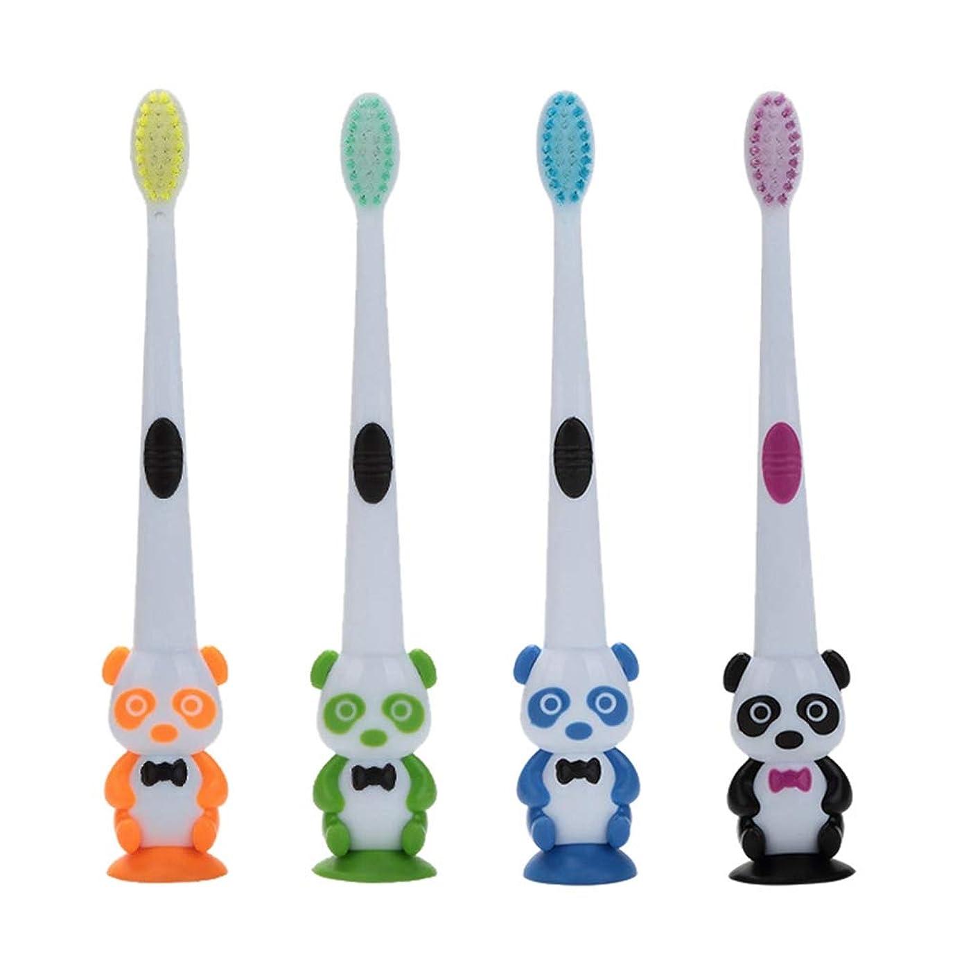残り物つまらない生き残りますRad子供 赤ちゃん漫画パンダ形状ソフト歯ブラシ子供歯科口腔ケアブラシツール歯ブラシ