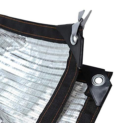 ANHPI Filet d'ombrage Couvre-sol Feuille d'aluminium Isolation thermique Tarp Shelter Bâche Polyéthylène Crème solaire Refroidir Balcon sur le toit extérieur (Size : 1 * 1m)