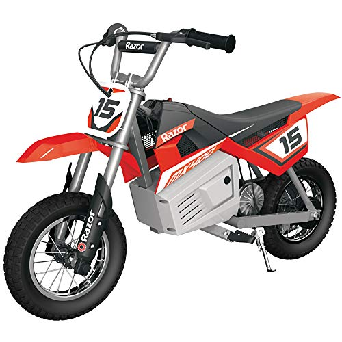 Razor MX400 Dirt Rocket Kids Ride On 24V Electric Toy Motocross Motorcycle Dirt Bike, Speeds up to 14 MPH, Red